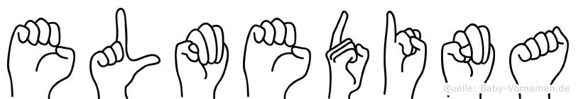 Elmedina im Fingeralphabet der Deutschen Gebärdensprache