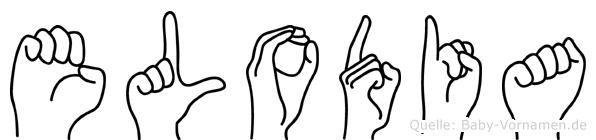 Elodia im Fingeralphabet der Deutschen Gebärdensprache