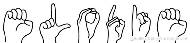 Elodie im Fingeralphabet der Deutschen Gebärdensprache