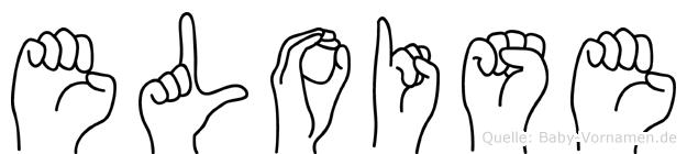 Eloise im Fingeralphabet der Deutschen Gebärdensprache