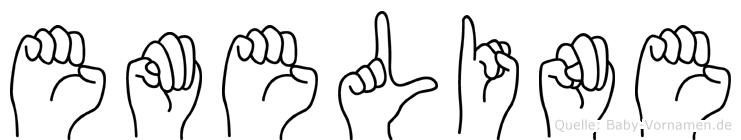Emeline in Fingersprache für Gehörlose