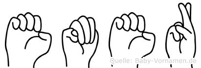 Emer in Fingersprache für Gehörlose