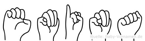 Emina in Fingersprache für Gehörlose