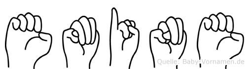 Emine im Fingeralphabet der Deutschen Gebärdensprache