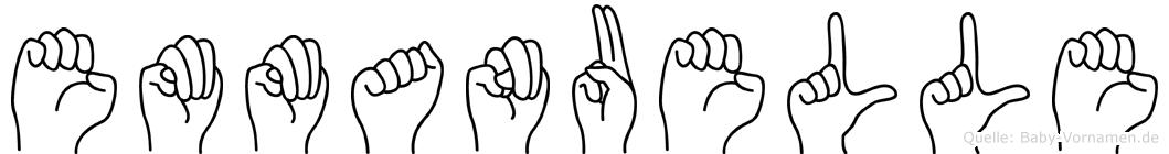 Emmanuelle im Fingeralphabet der Deutschen Gebärdensprache