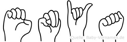 Enya in Fingersprache für Gehörlose