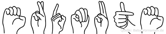 Erdmute in Fingersprache für Gehörlose