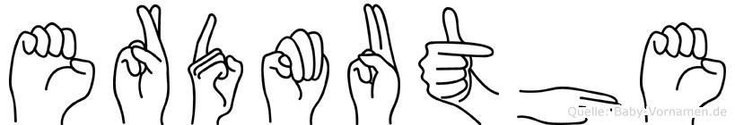 Erdmuthe im Fingeralphabet der Deutschen Gebärdensprache