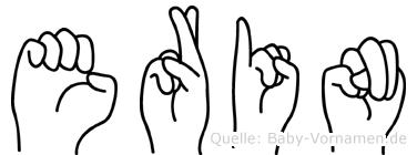 Erin in Fingersprache für Gehörlose