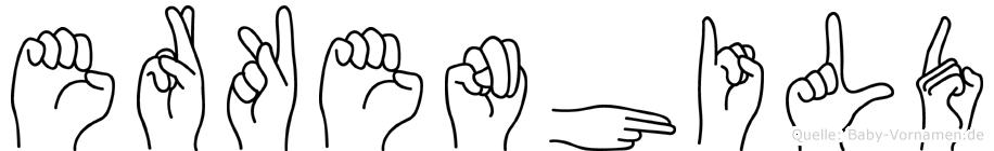 Erkenhild in Fingersprache für Gehörlose