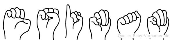Esinam im Fingeralphabet der Deutschen Gebärdensprache