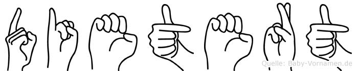 Dietert in Fingersprache für Gehörlose