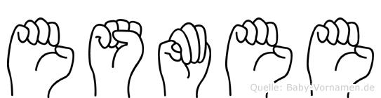 Esmee im Fingeralphabet der Deutschen Gebärdensprache