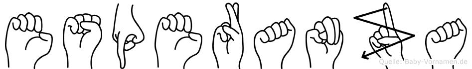 Esperanza im Fingeralphabet der Deutschen Gebärdensprache