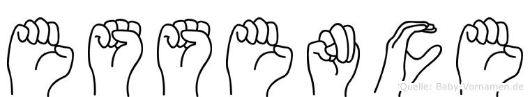 Essence im Fingeralphabet der Deutschen Gebärdensprache