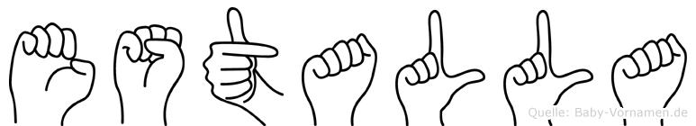 Estalla im Fingeralphabet der Deutschen Gebärdensprache