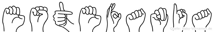 Estefania im Fingeralphabet der Deutschen Gebärdensprache