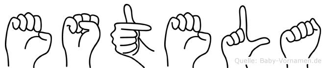 Estela in Fingersprache für Gehörlose