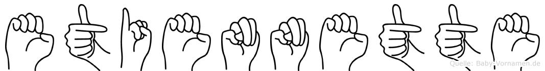 Etiennette in Fingersprache für Gehörlose