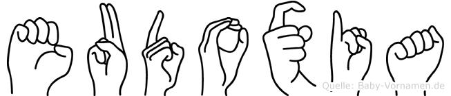 Eudoxia in Fingersprache für Gehörlose