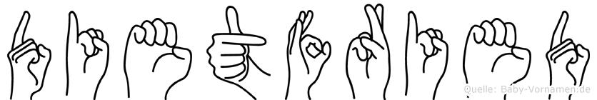Dietfried in Fingersprache für Gehörlose