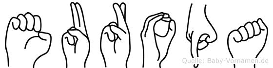 Europa in Fingersprache für Gehörlose