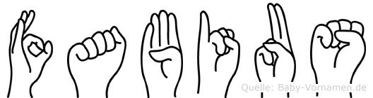 Fabius in Fingersprache für Gehörlose