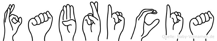 Fabricia in Fingersprache für Gehörlose