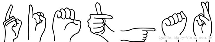 Dietgar in Fingersprache für Gehörlose