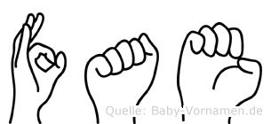 Fae in Fingersprache für Gehörlose