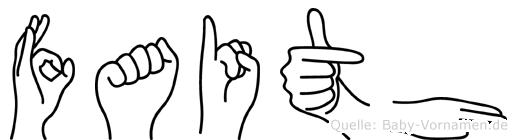 Faith in Fingersprache für Gehörlose