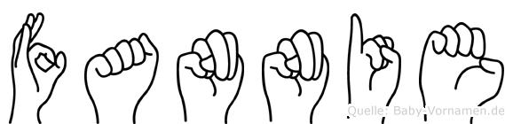 Fannie in Fingersprache für Gehörlose