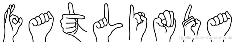 Fatlinda im Fingeralphabet der Deutschen Gebärdensprache