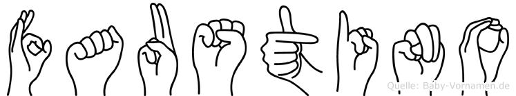 Faustino in Fingersprache für Gehörlose