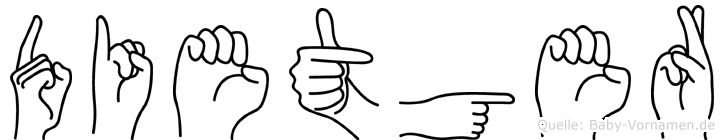 Dietger im Fingeralphabet der Deutschen Gebärdensprache
