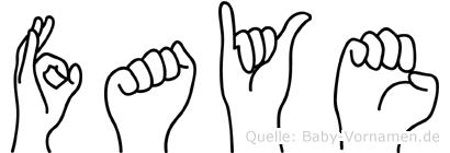 Faye in Fingersprache für Gehörlose