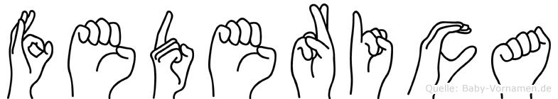 Federica im Fingeralphabet der Deutschen Gebärdensprache