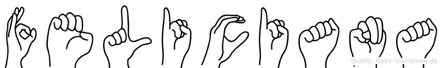 Feliciana im Fingeralphabet der Deutschen Gebärdensprache