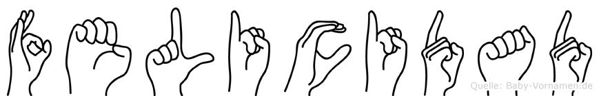 Felicidad im Fingeralphabet der Deutschen Gebärdensprache
