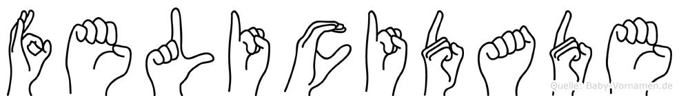 Felicidade im Fingeralphabet der Deutschen Gebärdensprache
