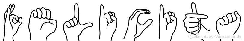 Felicita in Fingersprache für Gehörlose