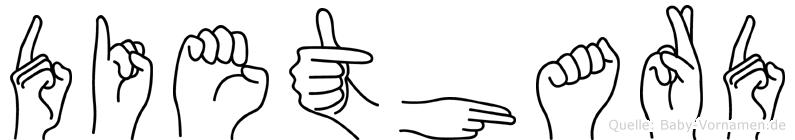 Diethard in Fingersprache für Gehörlose