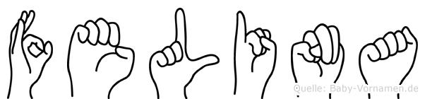 Felina in Fingersprache für Gehörlose