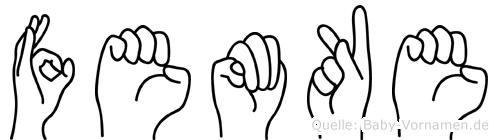 Femke im Fingeralphabet der Deutschen Gebärdensprache
