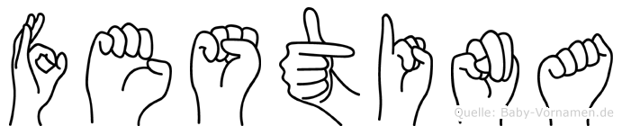 Festina in Fingersprache für Gehörlose