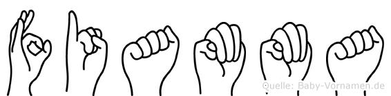 Fiamma in Fingersprache für Gehörlose