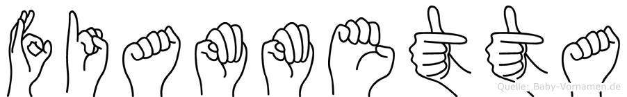 Fiammetta in Fingersprache für Gehörlose