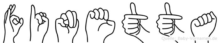 Finetta in Fingersprache für Gehörlose