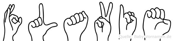 Flavie in Fingersprache für Gehörlose