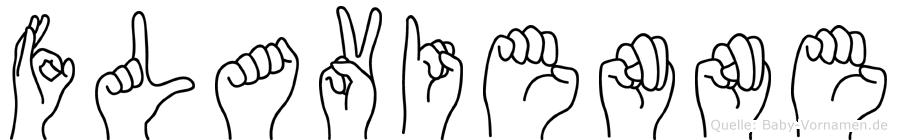 Flavienne in Fingersprache für Gehörlose